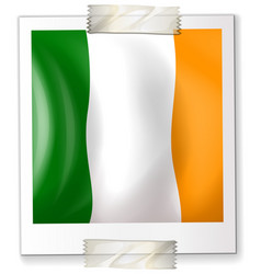 Badge design for ireland flag vector