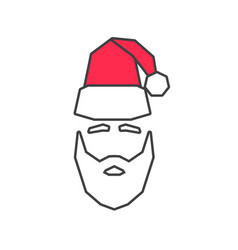 linear silhouette of santa claus vector image vector image