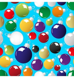 shiny color christmas decoration blue seamless vector image vector image