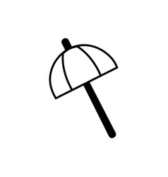 contour umbrella open style to weather protection vector image vector image