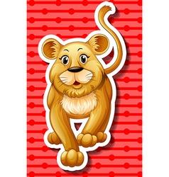 Little lion cub walking vector
