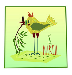 march eight greeting card vector image vector image