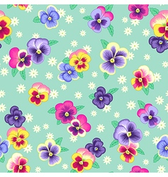 pattern pansy green vector image