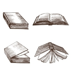 Books Hand Draw Sketch vector image vector image
