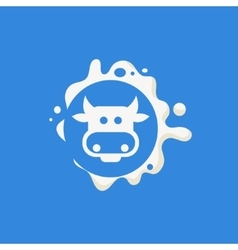 Cow Face Milk Product Logo vector image vector image