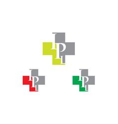 ipl letter hospital logo vector image vector image