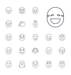 22 emoticon icons vector