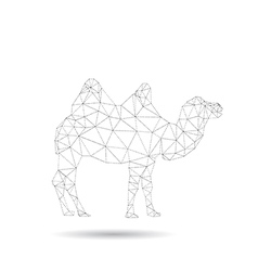 abstract origami camel vector image