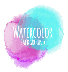 Abstract watercolor background pink and blue color vector