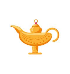 Aladin lamp on white background vector