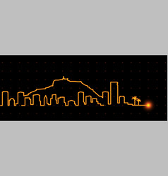 Alicante light streak skyline vector