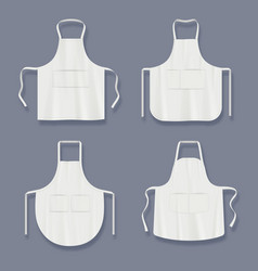 Aprons mockup realistic clothes for kitchen cook vector