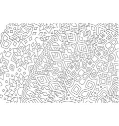 Art for adult coloring book with tribal pattern vector