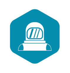 Astronaut icon in simple style vector