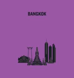 Bangkok art design concept vector