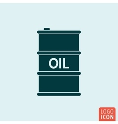 Barrel oil icon isolated vector