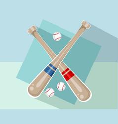baseball bats and balls vector image