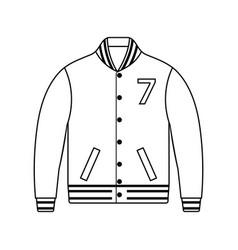 Baseball jacket icon vector