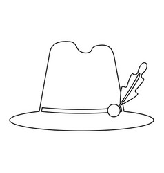 bavarian hat cap in black and white vector image
