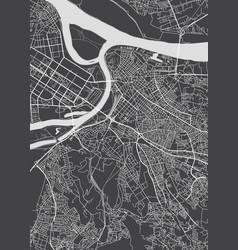 belgrade city plan detailed map vector image