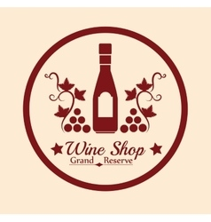 Best wine shop seal guaranteed vector