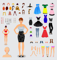 Big set for creation unique lady character vector