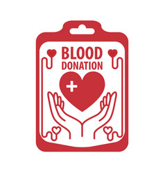blood donation banner vector image