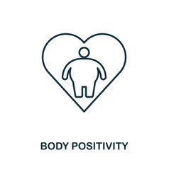 body positivity icon monochrome style design from vector image