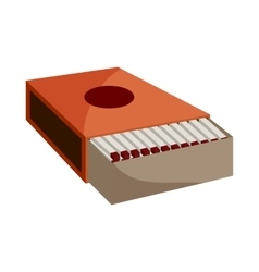 Box of matches icon cartoon style vector