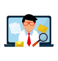 business and email vector image