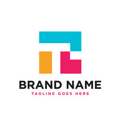 Business modern logo with letter t vector