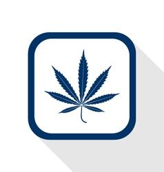 Cannabis mariujana leaf flat icon vector