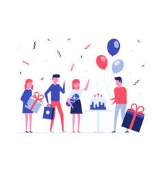 Children birthday party flat design style vector