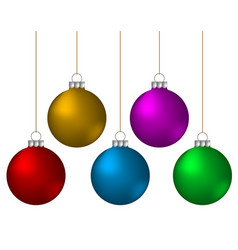christmas balls decoration color ornament vector image