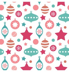 Christmas toys balls and baubles seamless pattern vector image