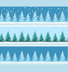 christmas trees seamless vector image