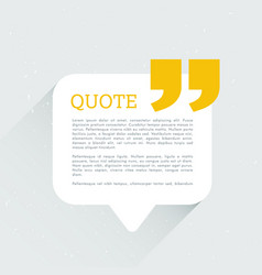 Clean chat bubble with quotation message vector