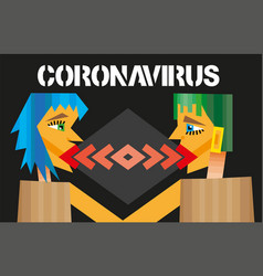 Coronavirus 2019-ncov conceptdangerous chinese vector