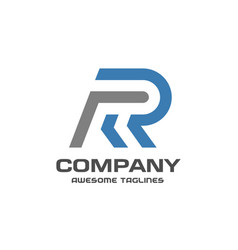 Creative letter r logo vector