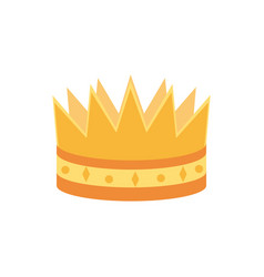 crown monarch jewel royalty king or queen vector image