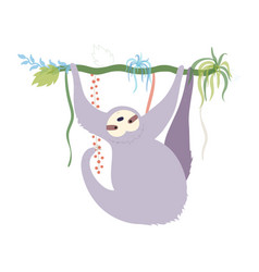 cute character sloth vector image