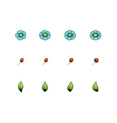 daisy single color elements vector image