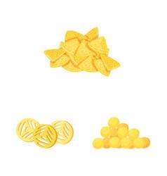 Design food and crunchy symbol set of vector