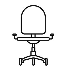 desk chair icon outline style vector image