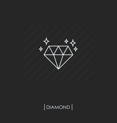 diamond outline icon isolated vector image