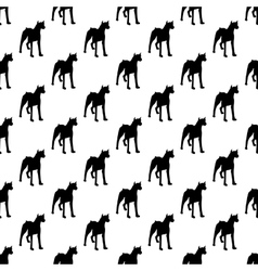 Dog pattern seamless vector image