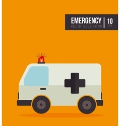 Emergency ambulance vehicle vector
