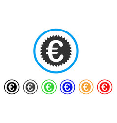 euro warranty stamp rounded icon vector image