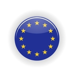 European Union icon circle vector image