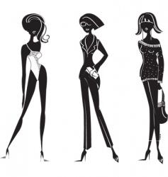 fashion girl11 vector image
